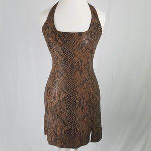 CACHE: Faux Snakeskin Dress